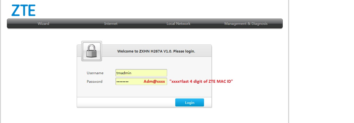 Setup Unifi on ZTE ZXHN H267A Home Gateway Single Box